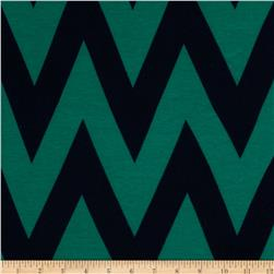 Fashionista Jersey Knit Medium Chevron Navy/Teal