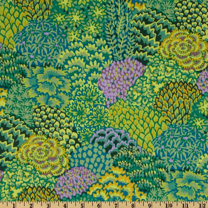 Kaffe Fassett Collective Fall Oriental Trees Green
