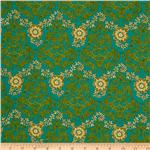 Daydreams Damask Green