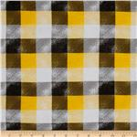 0270323 Designer Printed Jersey Knit Plaid Yellow/Black