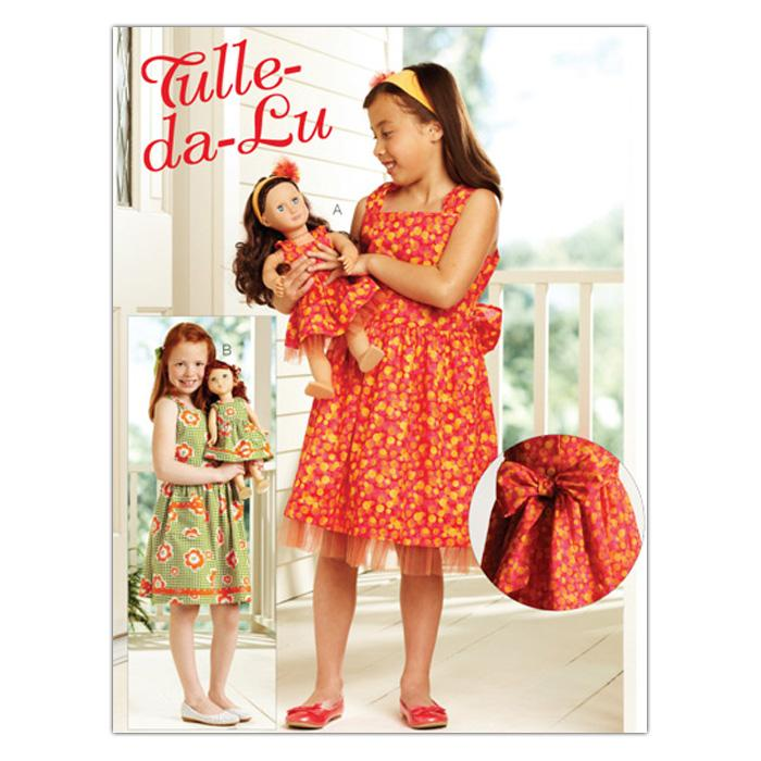 Kwik Sew Girls Tulle-da-Lu Girls & Doll Dress (3906) Pattern