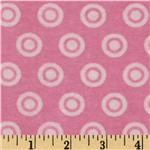 Alpine Flannel Basics Circle Dots Tonal Pink