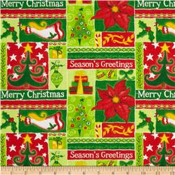 Holiday Novelties Christmas Blocks Green/Red