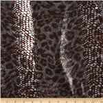 Safari Shimmer Stretch ITY Knit Snake Copper/Black