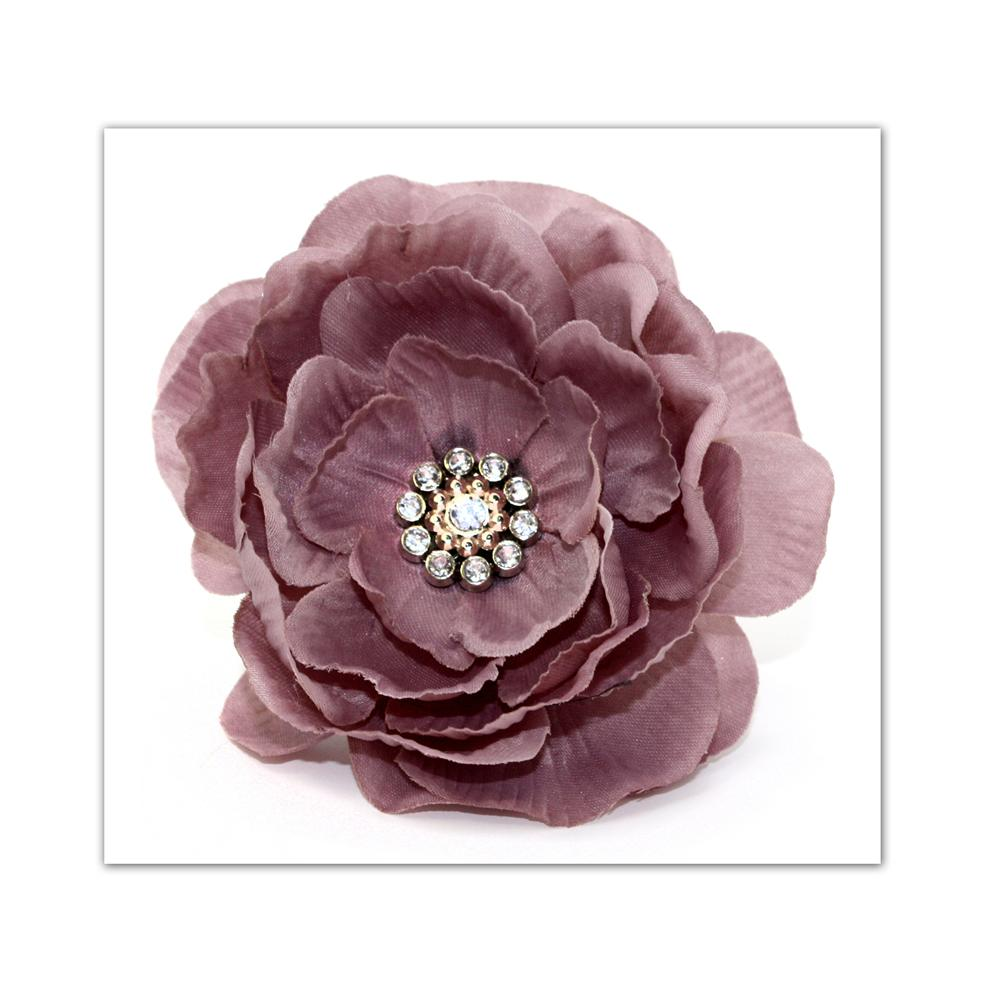 Laliberi Pin &amp; Clip Flower Layered Dusty Pink