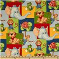 Monkey Business Patchwork Blue