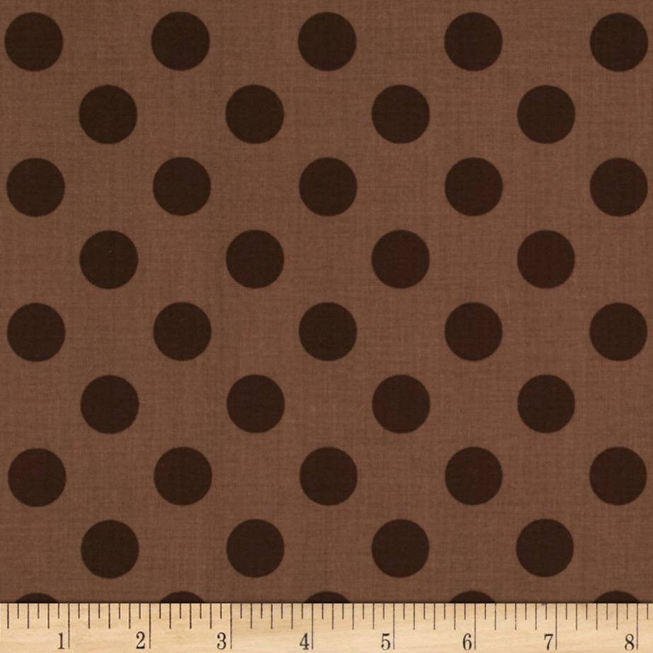 Riley Blake Medium Dots Tone on Tone Brown