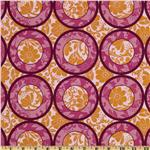 City Blooms Circles Orange/Magenta