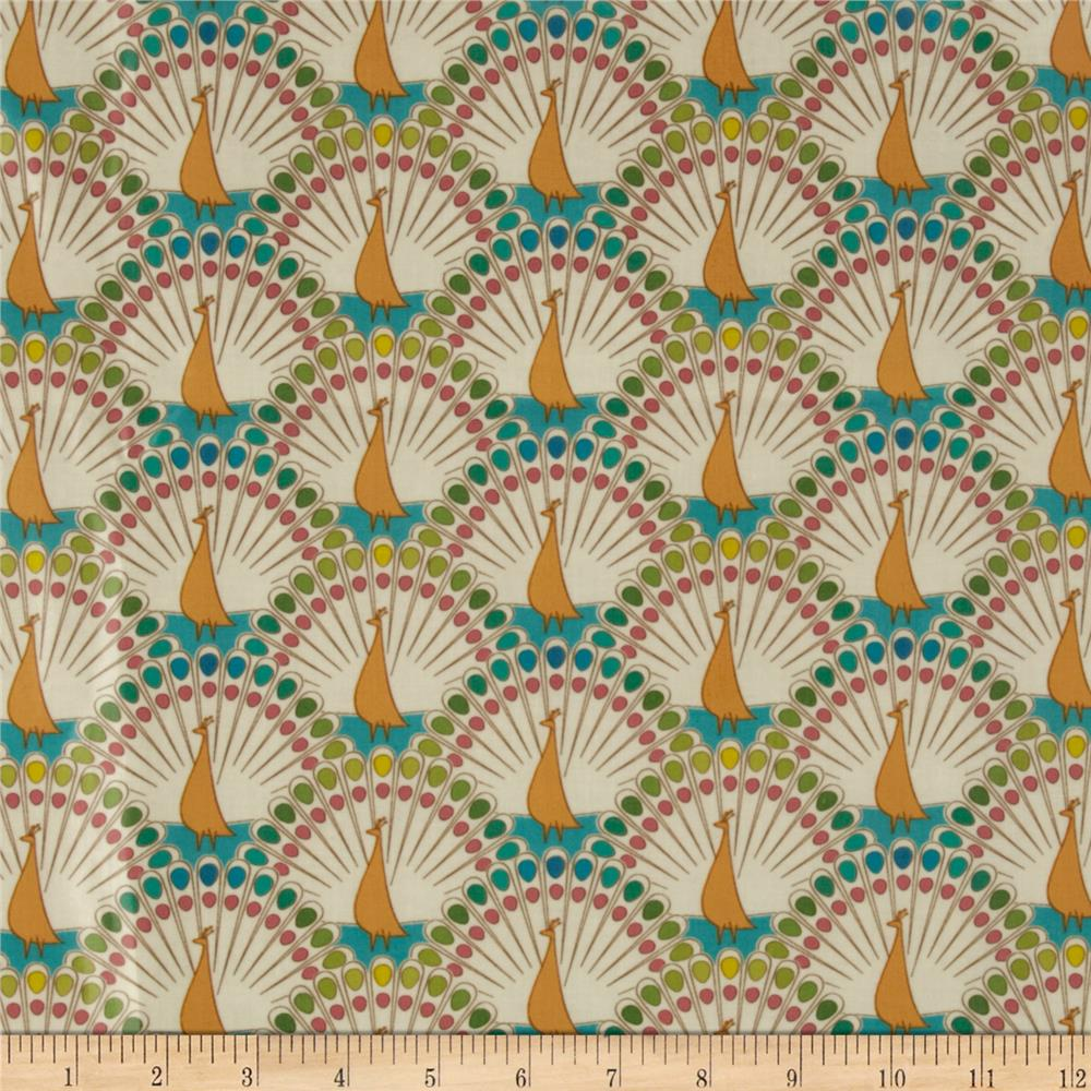 Frippery Laminated Cotton Peacocks Cream