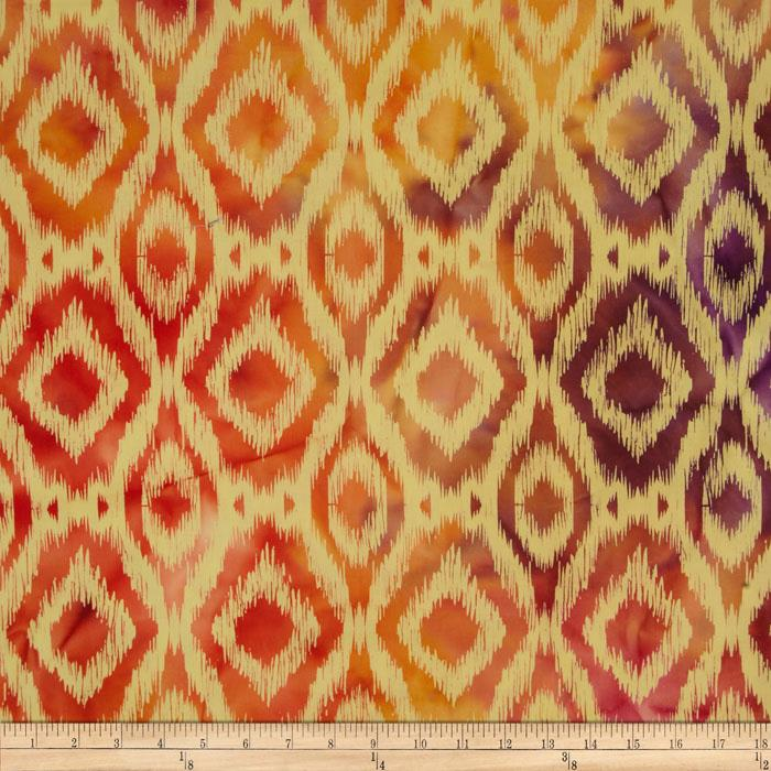 Indian Batik Ikat Natural/Orange
