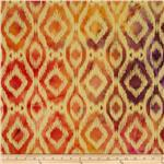 0269731 Indian Batik Ikat Natural/Orange
