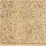 0289749 Tonga Batik Mocha Kiss Pressed Leaves Plum