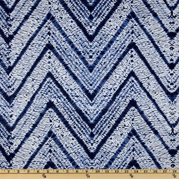 Braemore Melaya Chevron Twill Indigo