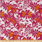 0263362 Crazy Daisy Flowers Pink/Orange