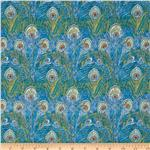 Liberty Of London Tana Lawn Hera Turquoise/Mustard