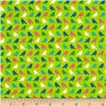 Erin McMorris Irving Street Flannel Birds Green