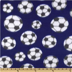 Novelty Fleece Soccer Purple