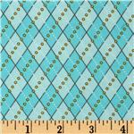 Polka Perch Argyle Aqua
