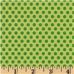 237349 Riley Blake Zoofari Organic Dots Green