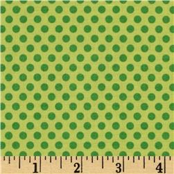 Riley Blake Zoofari Organic Dots Green