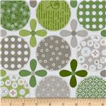 Riley Blake Polka Dot Stitches Designer Green