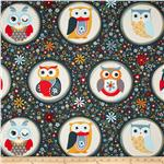 0297070 Nested Owls Owl Polka Dot Navy