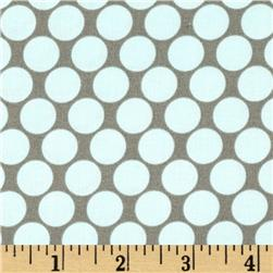 Amy Butler Lotus Full Moon Polka Dot Slate