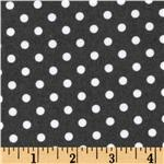 Michael Miller Flannel Dumb Dot Charcoal