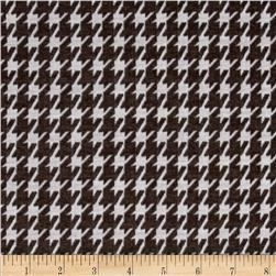 Jacquard Double Knit Houndstooth Brown/White
