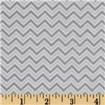 Alpine Flannel Basics Chevron Grey