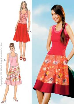 Kwik Sew Circle Skirts & Tank Tops Pattern