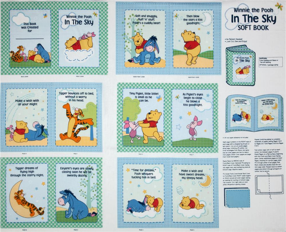 Disney Winnie The Pooh In The Sky Soft Book Blue