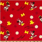 Minnie Bows and Daisies Red