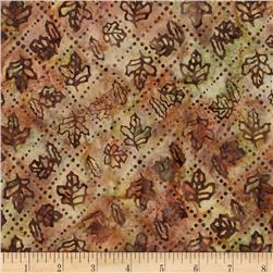 Moda Pine Island Batiks Maple Leaf Copper