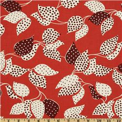 Flea Market Fancy Legacy Collection Leaf & Dot Red
