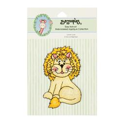 Iron-On Embroidered Applique Bazooples Lester Lion