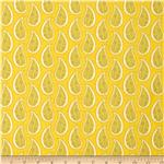 0274226 Gray Matters Paisley Yellow