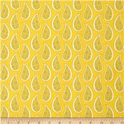 Gray Matters Paisley Yellow