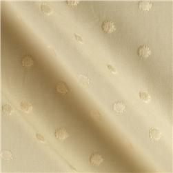 Rebecca Embroidered Poplin Polka Dot Natural