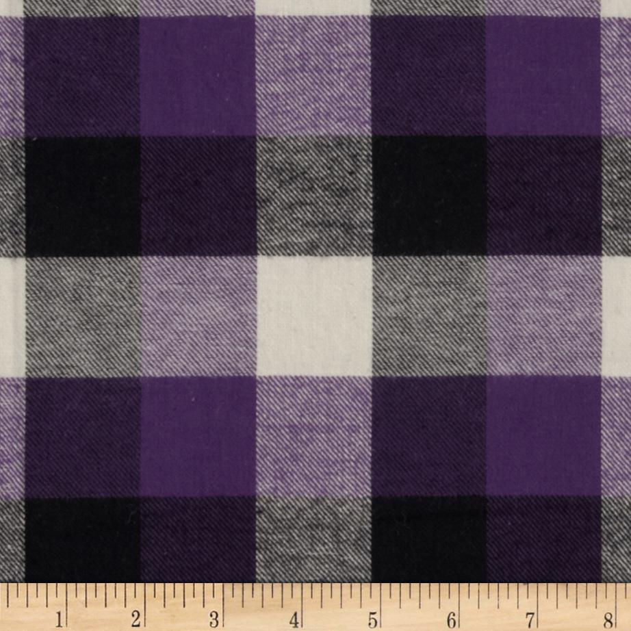 Plaid Flannel Purple/Black/Ivory