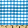 Riley Blake Medium Gingham Flannel Medium Blue