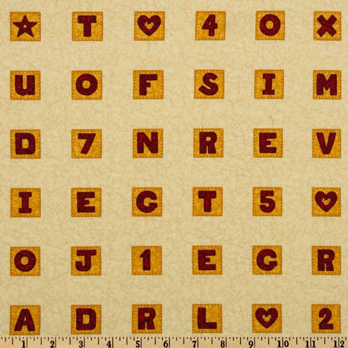 School House Fancies Scrabble Tiles Cream