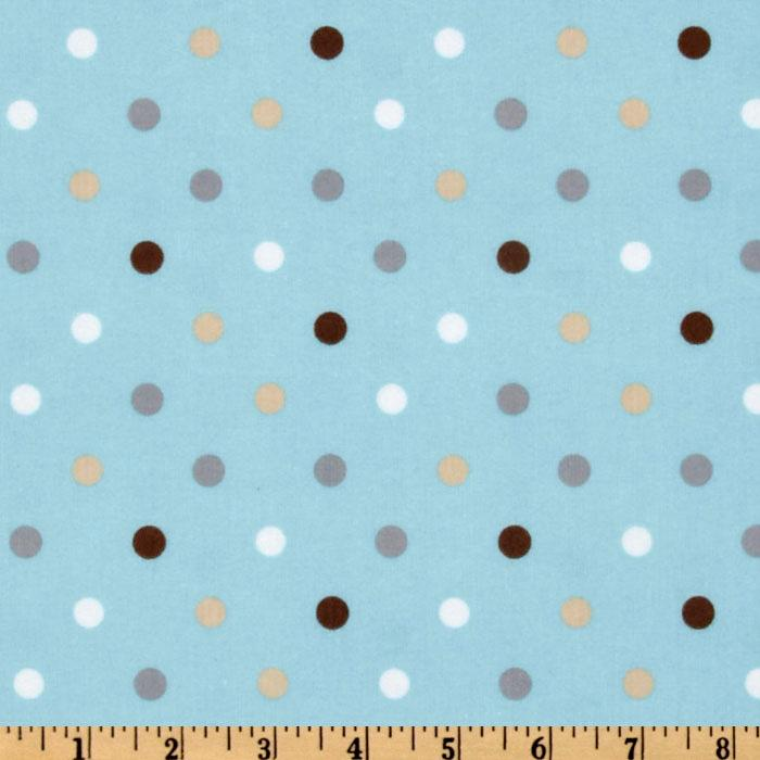 Cozy Cotton Flannel Dots Park Aqua/Multi