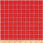 0270193 Michael Miller Lunch Box Plaid Red