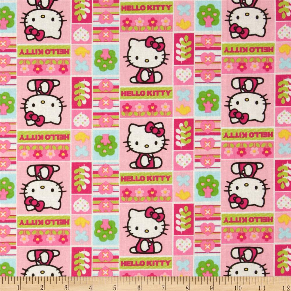 Hello Kitty Nursery Patchwork Pink