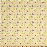 Little Lamb Hearts Yellow