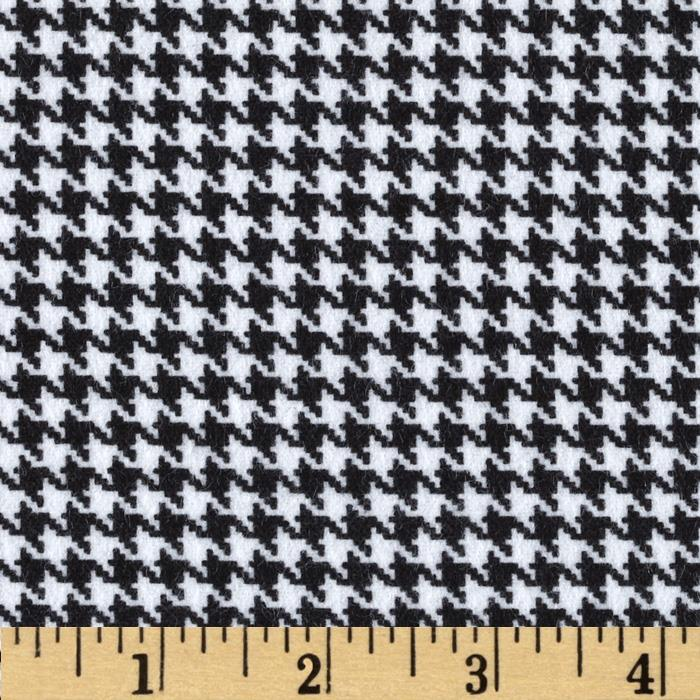 Great Scotts Flannel Houndstooth White