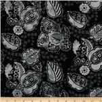 Bali Batiks Decorative Leaf Pewter