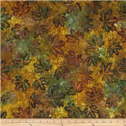 Artisan Batik Cornucopia 4 Leaves Large Autumn Green