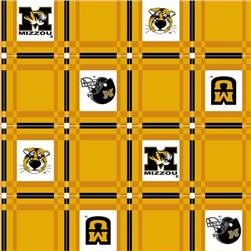 Collegiate Tailgate Vinyl Tablecloth University of Missouri Black/Gold